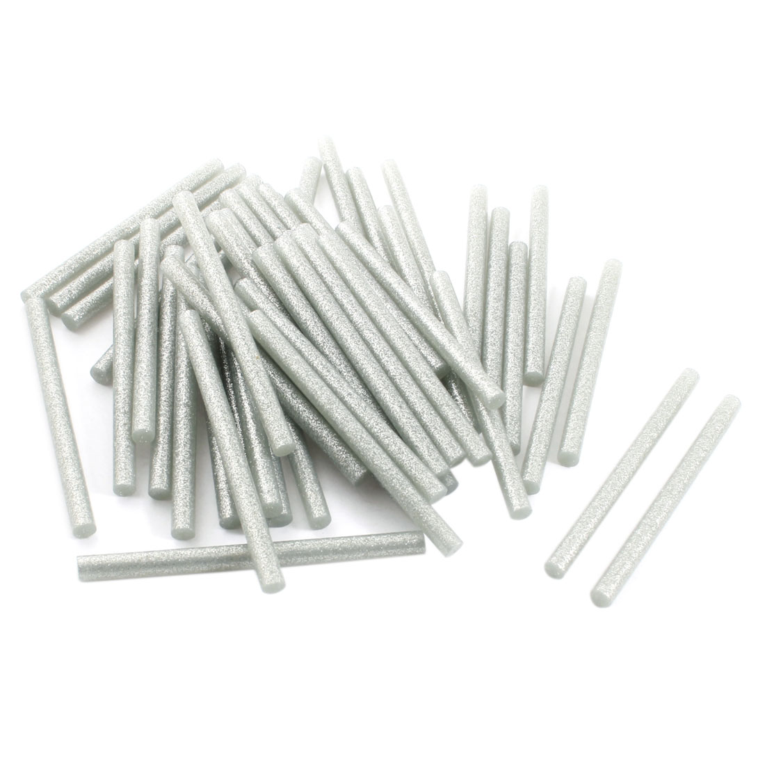 50Pcs 7mm x 100mm Silver Tone Giltter Hot Melt Glue Adhesive Sticks for Electric Tool Heating Gun