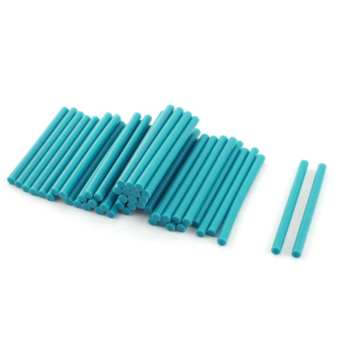 50 Pcs Teal Hot Melt Glue Gun Adhesive Sticks 7mm x 100mm
