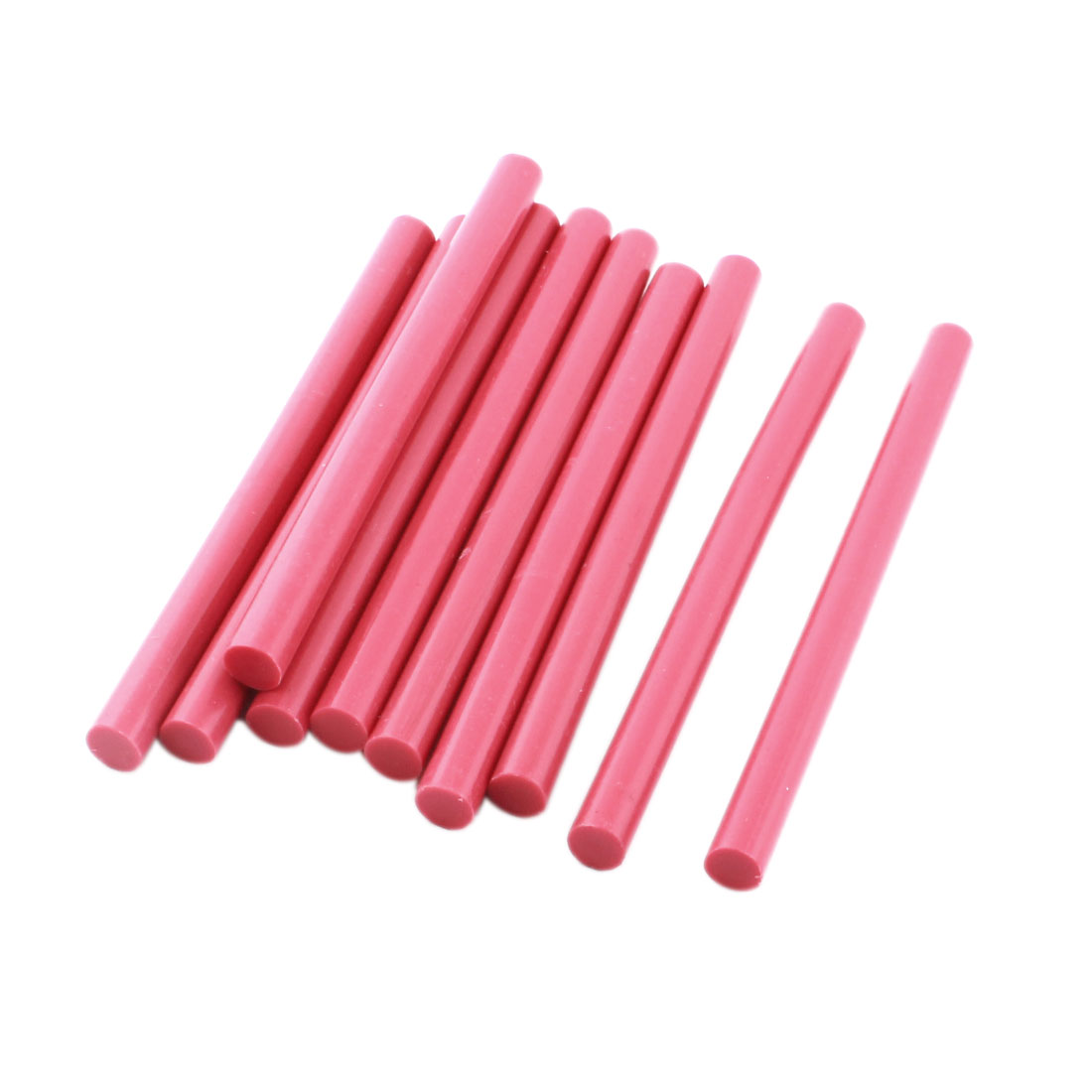 10 Pcs Rose Hot Melt Glue Gun Adhesive Sticks 7mm x 100mm for Crafting Models