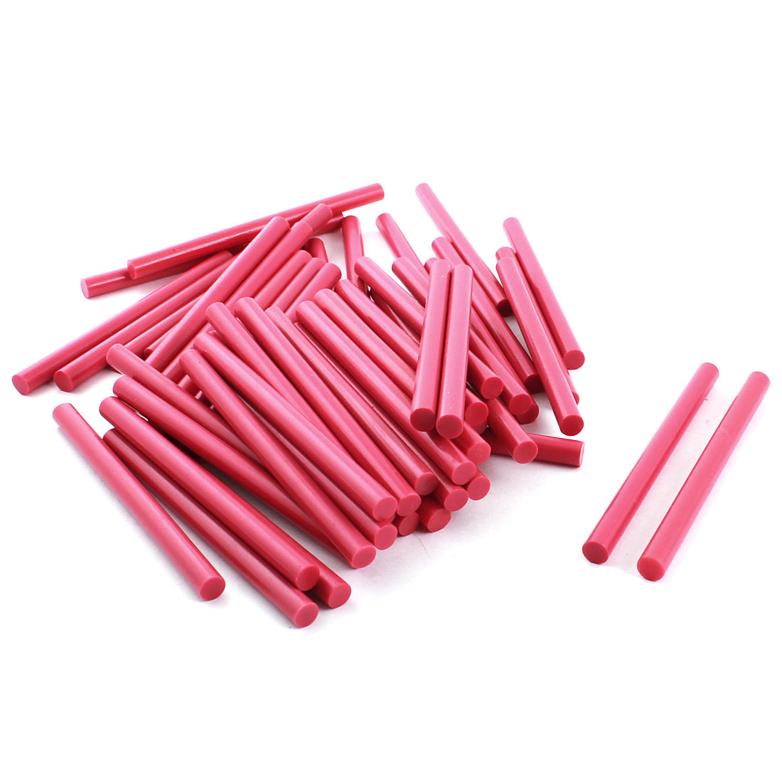 50pcs 7x100mm Fuchsia EVA Hot Melt Glue Gun Adhesive Sticks for Sealing Package