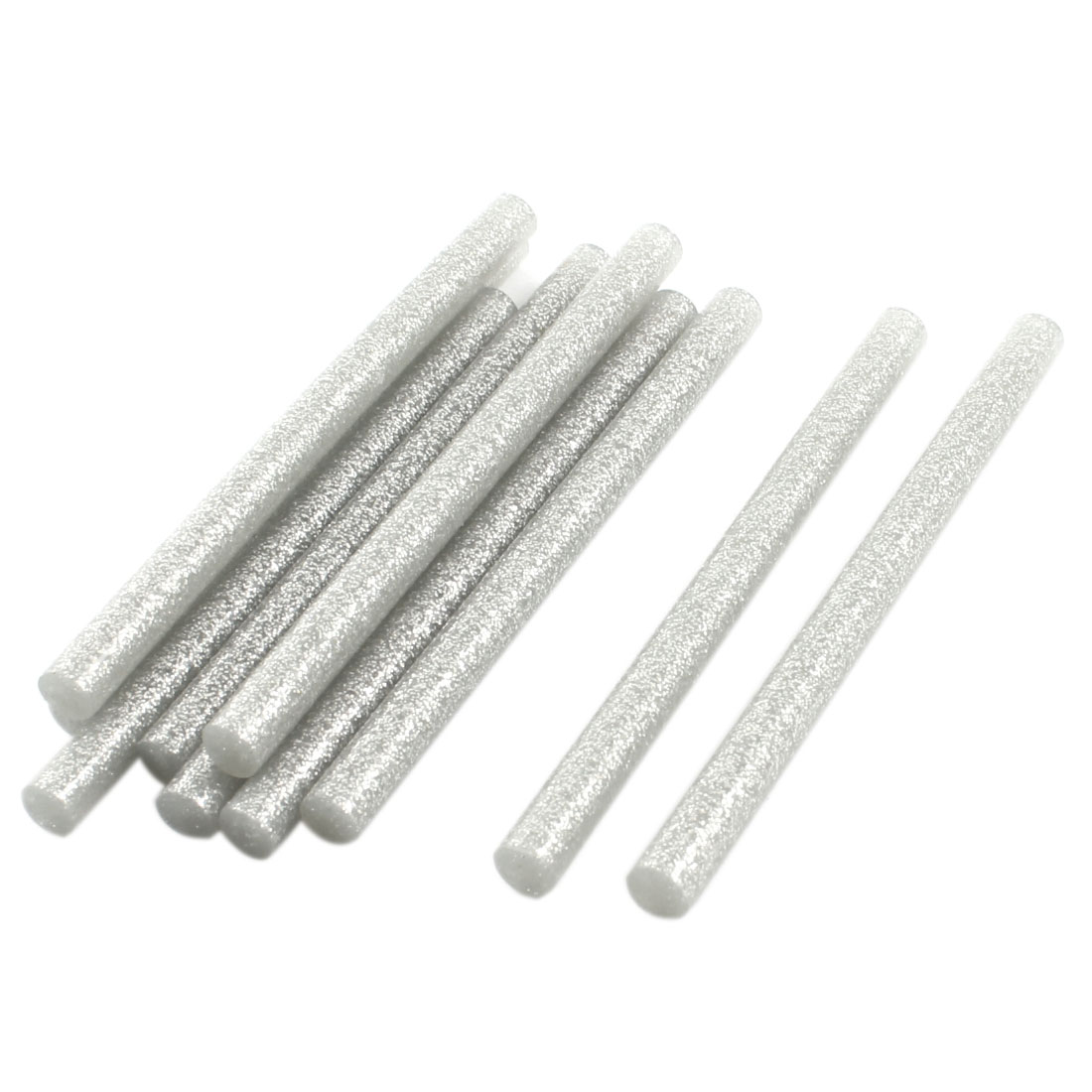 10Pcs 7mm x 100mm Silver Tone Glitter Hot Melt Glue Adhesive Sticks for Electric Tool Heating Gun