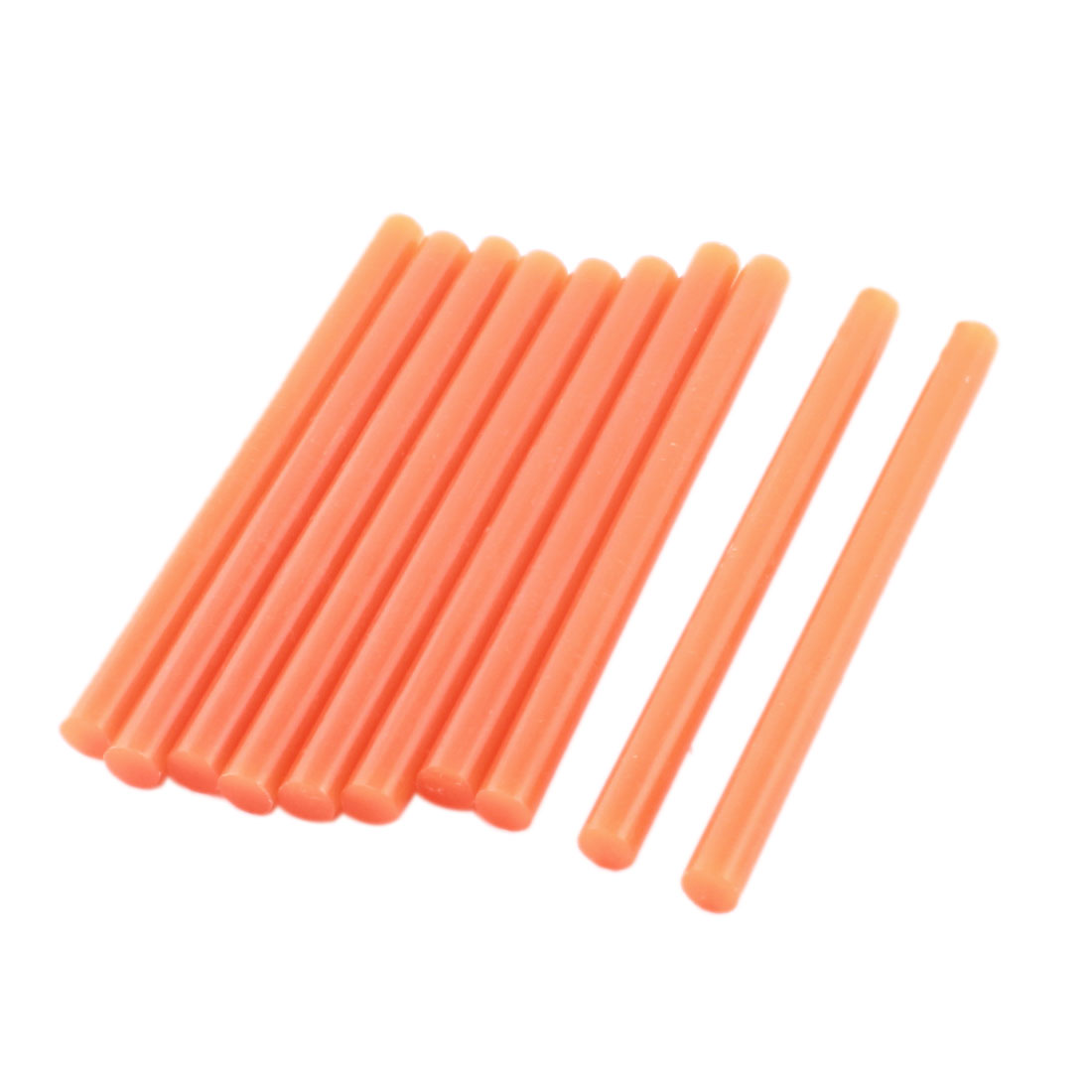 10 Pcs Orange Hot Melt Glue Gun Adhesive Sticks 7mm x 100mm for Crafting Models