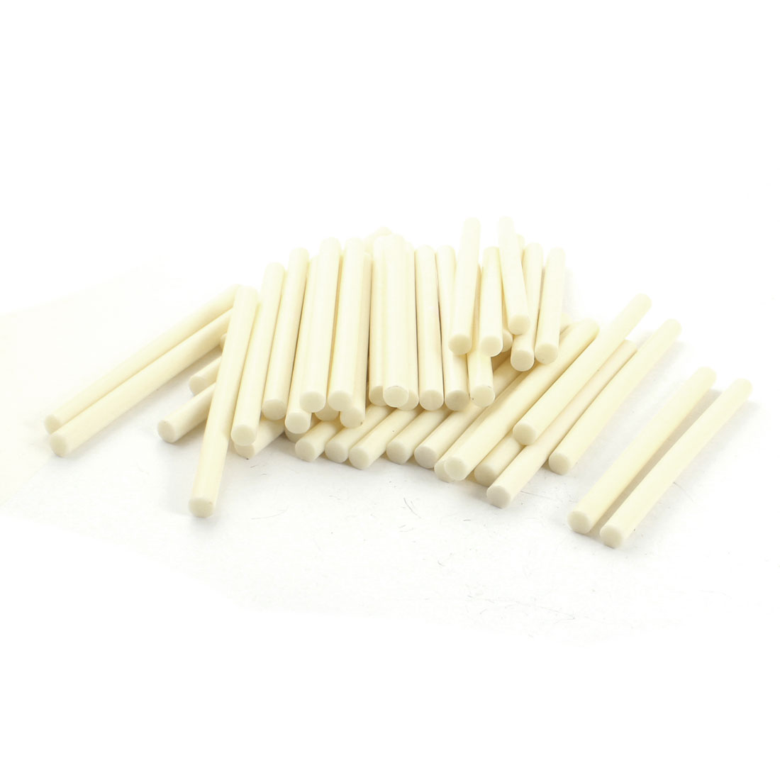 50 Pcs Ivory Hot Melt Glue Gun Adhesive Sticks 7mm x 100mm for Crafting Models