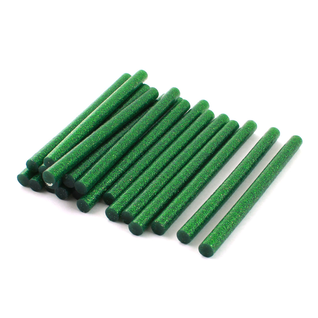 20 Pcs Dark Green Glitter Electric Tool Hot Melt Gun Glue Adhesive Stick 7mm x 100mm