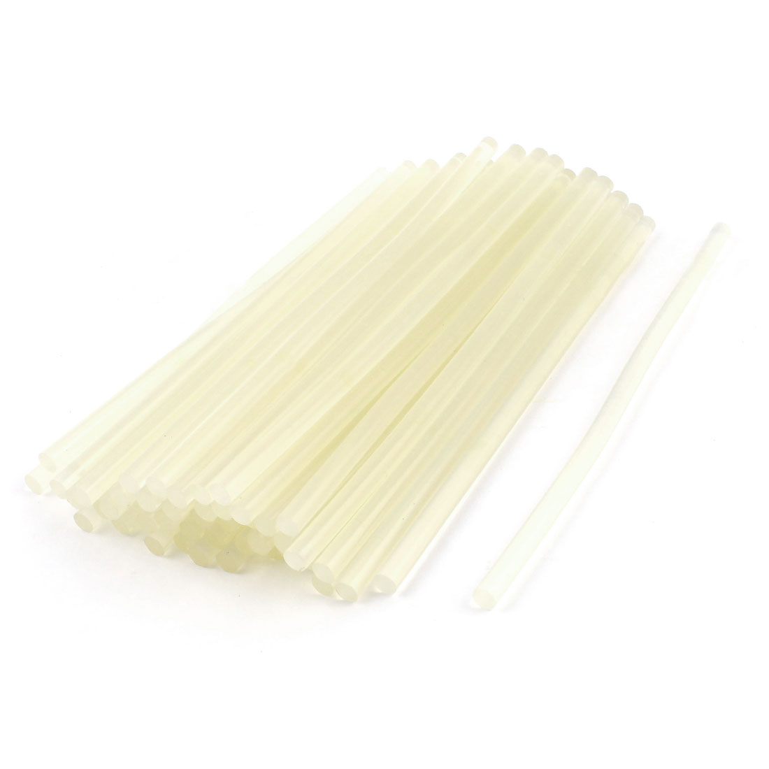50 Pcs Clear White 7mm Dia Soldering Iron Hot Melt Glue Stick 200mm Long