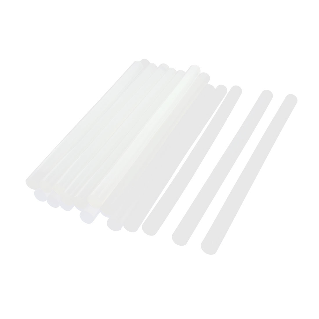 20Pcs 11mmx200mm Clear White Plastic Hot Melt Glue Gun Adhesive Stick for Crafts Soldering Iron
