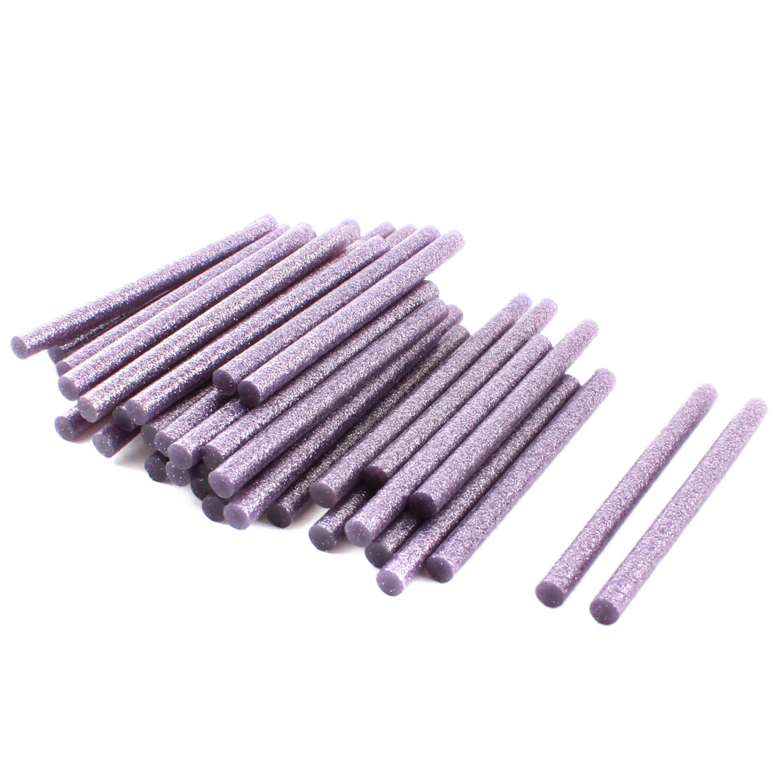 "0.28"" x 4"" Light Purple Glitter Electric Hot Melt Gun Glue Adhesive Sticks 50Pcs"