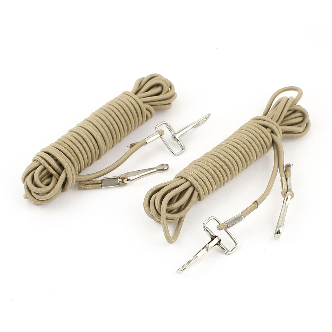 2 Pieces Fishing Pole Rod Protector Elastic Rubber Rope Line Light Gray 5M Length