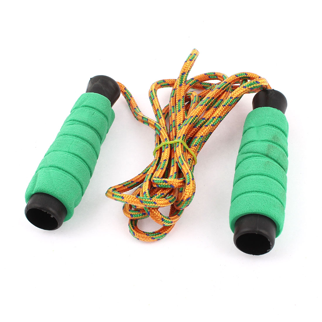 Foam Coated Handle Exercise Training Jumping Skipping Rope 2M Length Green Orange