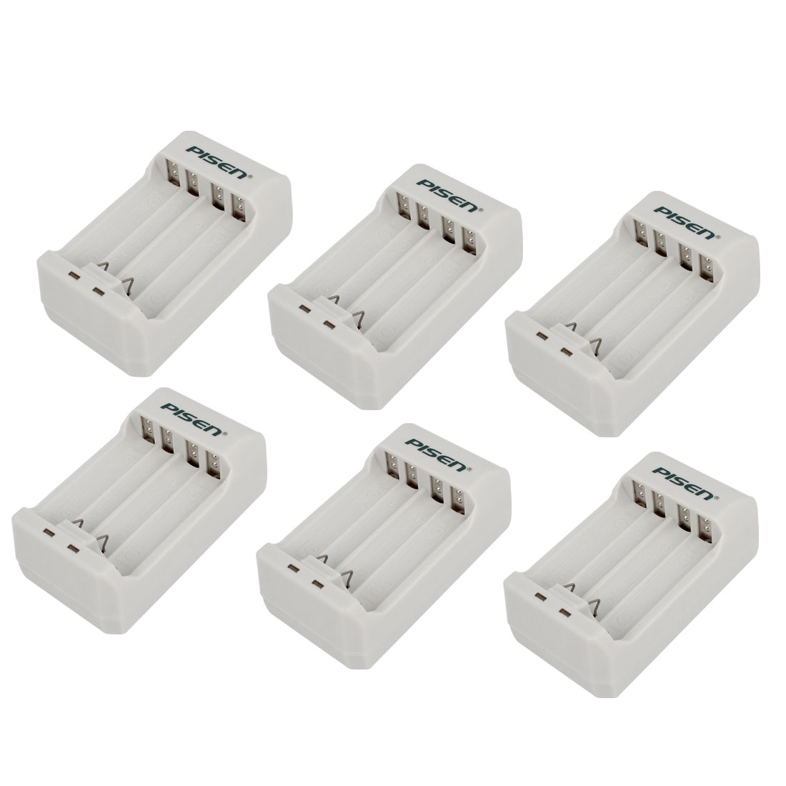 AC 100-240V US Plug AA AAA NI-MH Rechargeable Battery Quick Charger 6Pcs