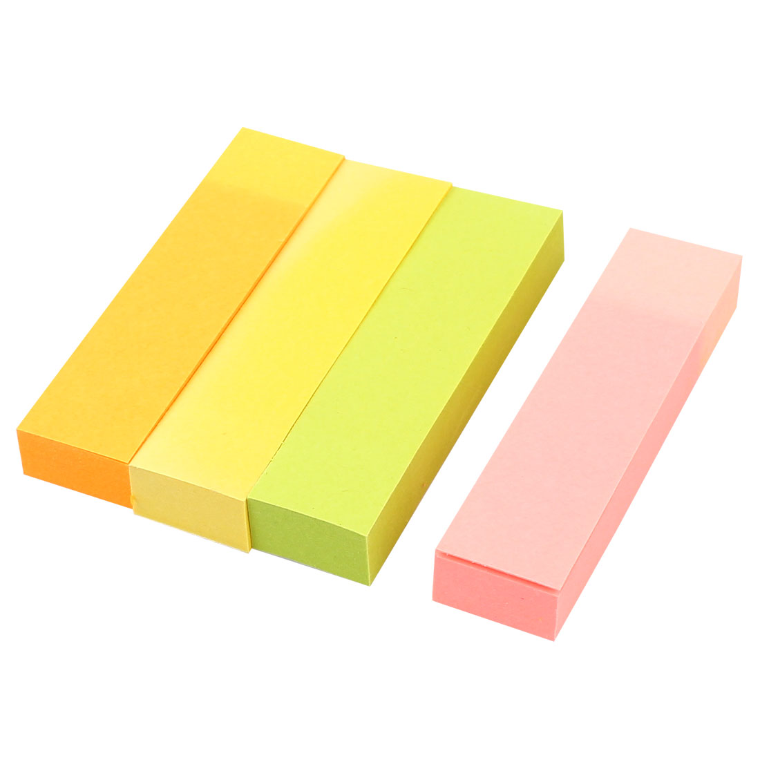 4 Pieces Self Adhesive Dairy Memo Pad Sticky Notes Yellow Pink Orange Green