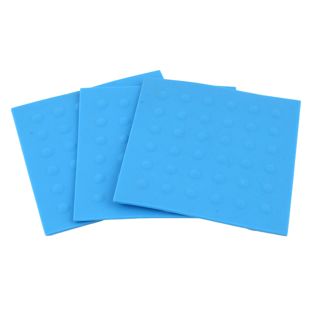 3 Pcs Soft Rubber Nonslip Mug Beverage Coaster Cushion Mat Placemat Pad Blue
