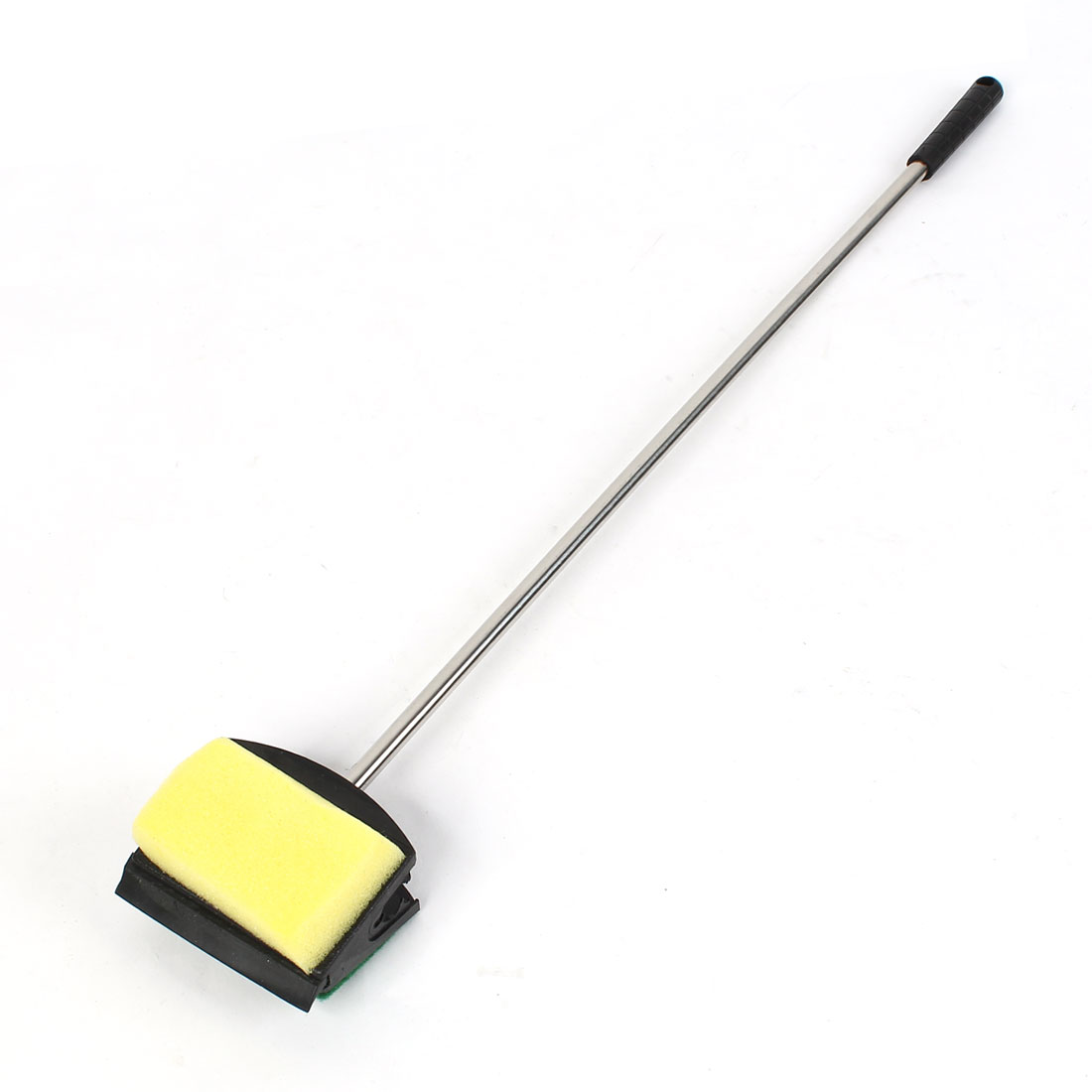 Yellow Green Non-Slip Handle Sponge Fish Tank Cleaner Brush Cleaning Tool