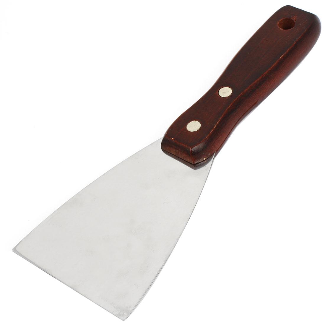 """3"""" Width Stainless Steel Blade Wooden Handle Drywall Repair Tool Putty Scraper"""