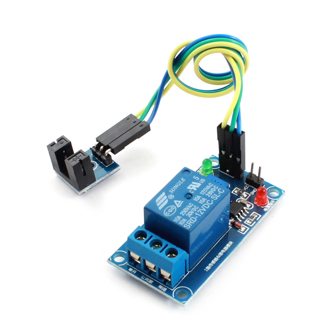DC 12V 1 Channel 5mm Groove Speed Detection Optical Coupler Sensor PCB Circuit Relay Module