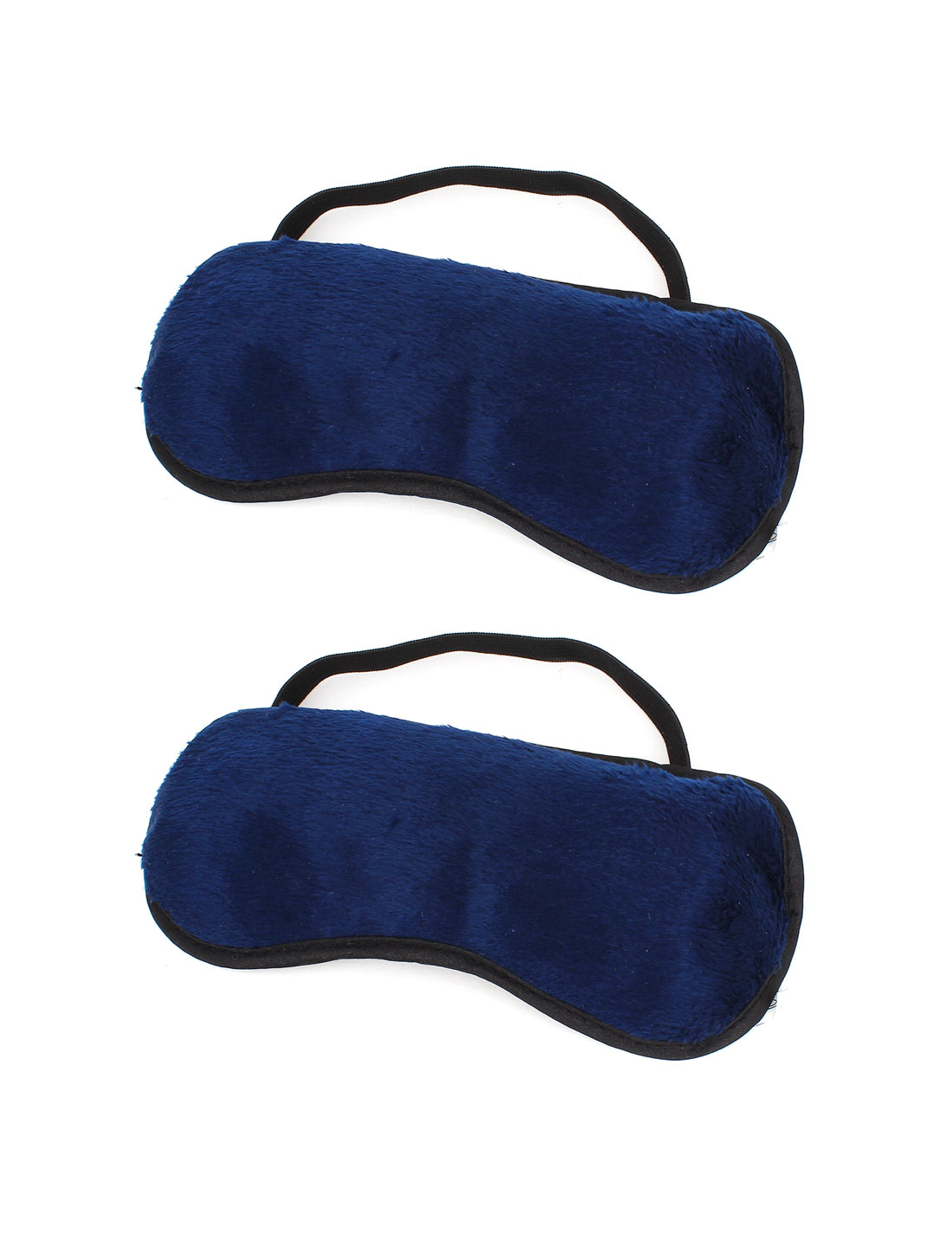 Unisex Travel Elastic Belt Sleep Eyeshade Eye Cover Mask Dark Blue 2pcs