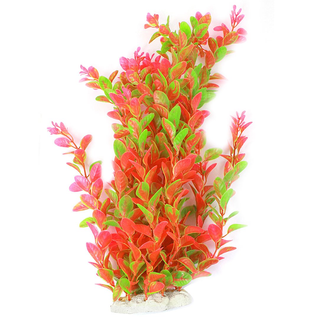 "14.5"" Height Red Green Landscaping Simulated Manmade Artificial Aquatic Grass Plant Ornament for Aquarium"