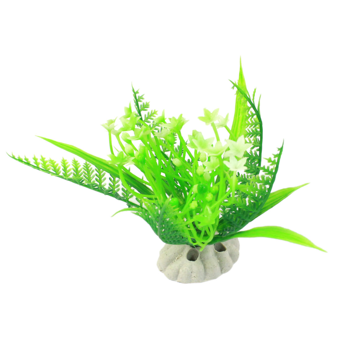 "4"" Height Green Landscaping Simulated Manmade Artificial Aquatic Grass Plant Ornament for Aquarium"
