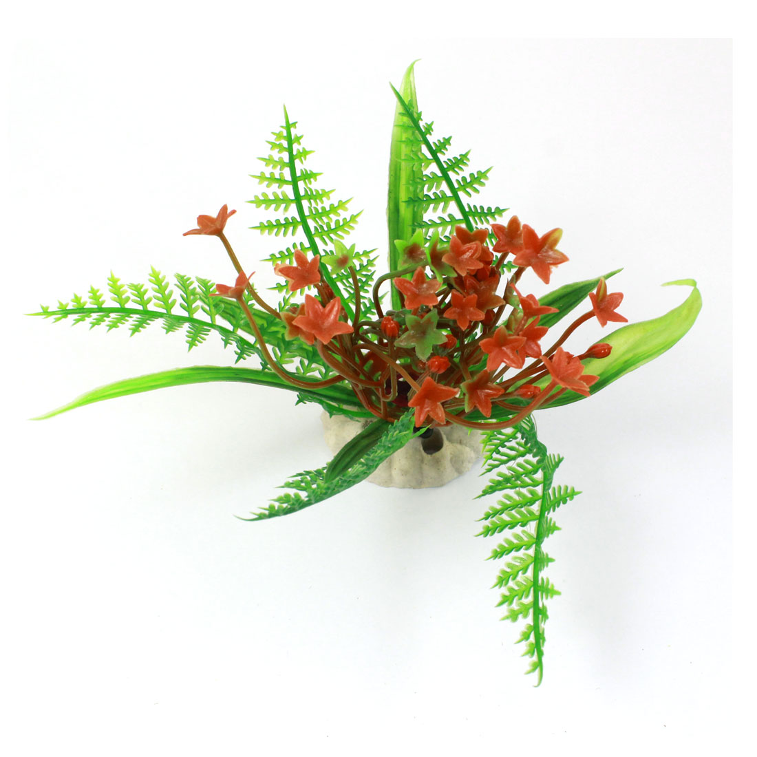 "3.5"" Height Green Red Landscaping Simulated Manmade Artificial Aquatic Grass Plant Ornament for Aquarium"