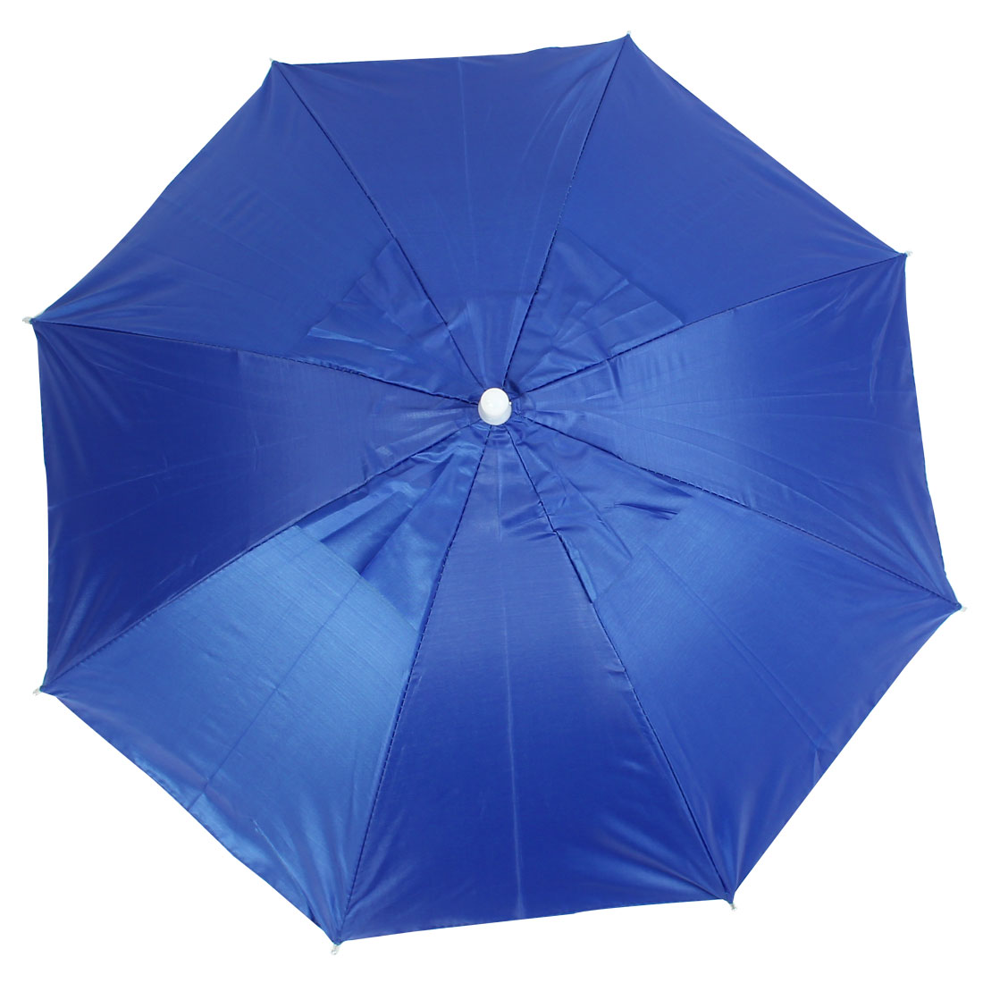 Outdoor Fishing Headwear Polyester Canopy Umbrella Hat Cap Blue
