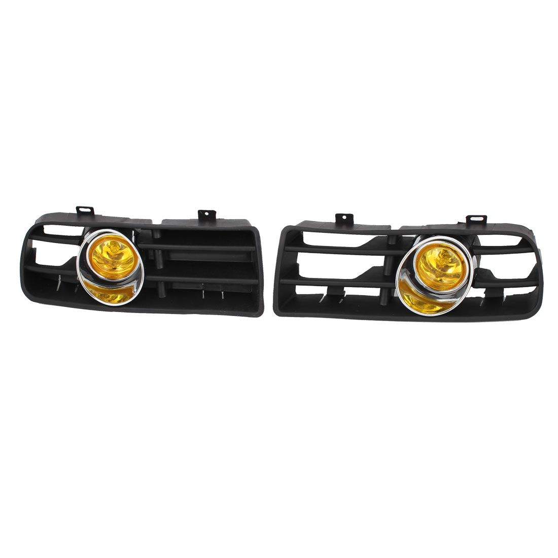 Pair Yellow Front Grille LED Fog Light Lamp Lower Grill for 98-04 VW Golf