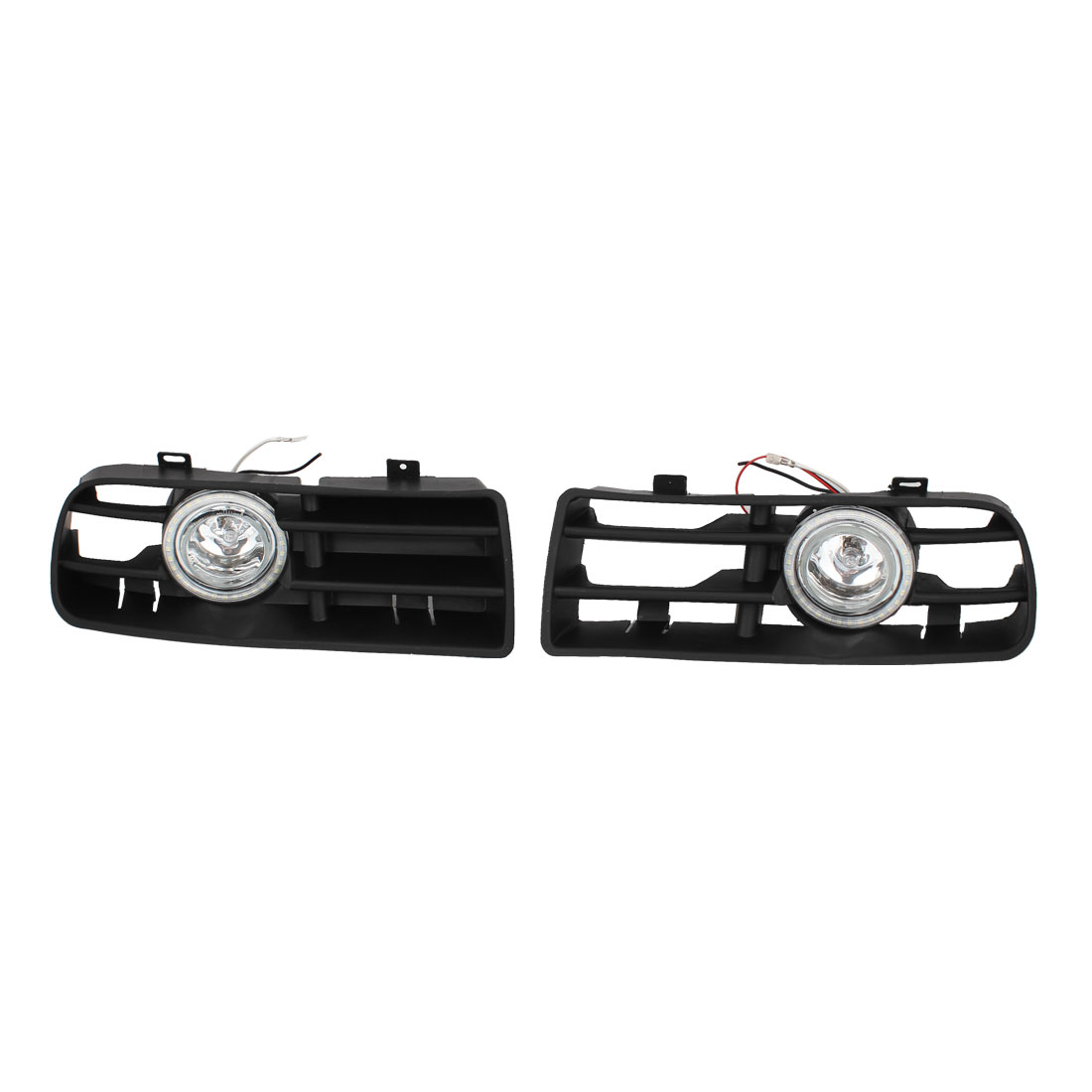 2 Pcs Driving Projector White Front Fog Light Lamps Grille for VW GOLF