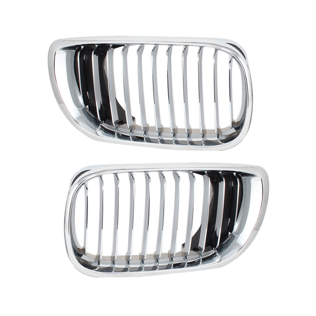 Pair Silver Tone Sedan Wagon Front Chrome Plated Kidney Grille for 2009-2012 BMW 330I