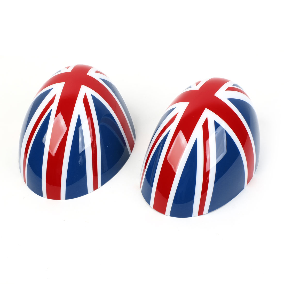 2 Pcs Blue Red Union Flag Prints Side Rear View Mirror Caps Cover for BMW MINI