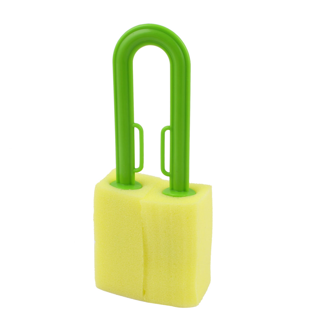 Kitchen Green Handle Yellow Sponge Cleaning Bottle Cup Washing Brush