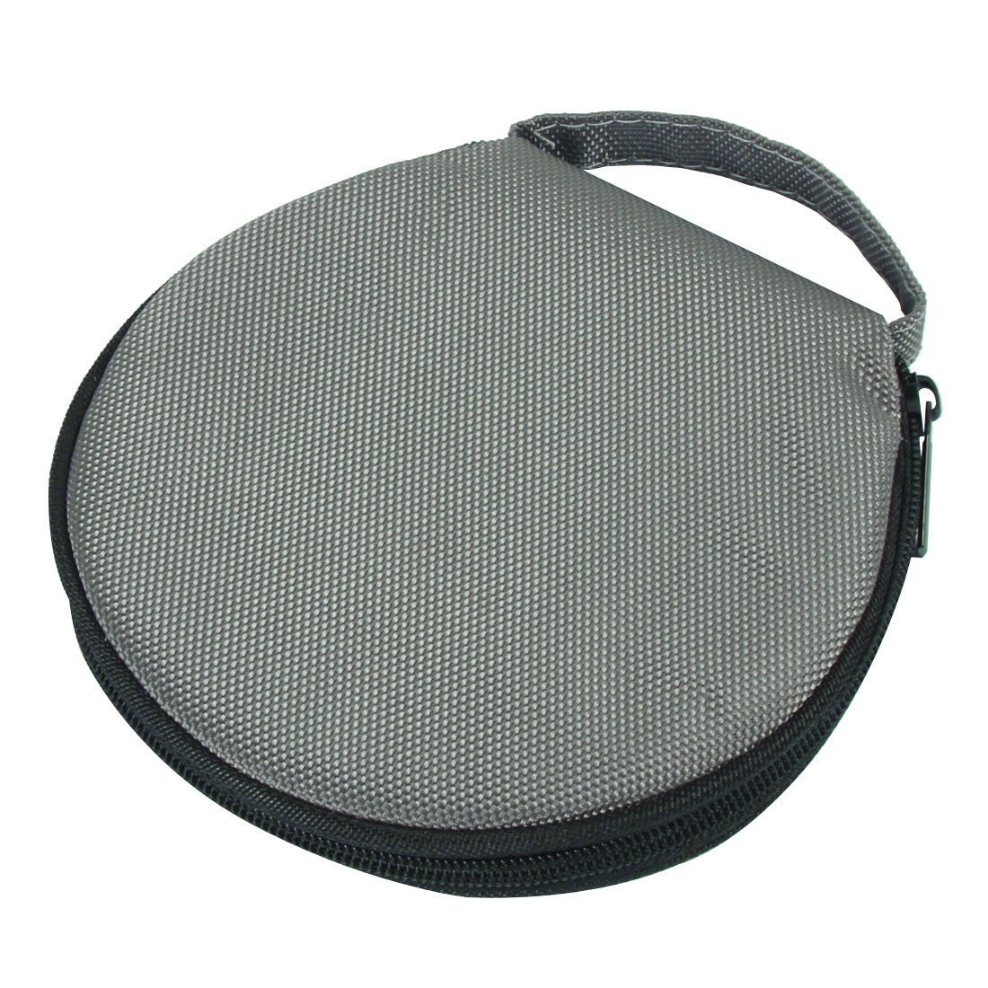 Round Design 20 Capacity Gray Oxford Fabric CD DVD Holder Storage Bag Case