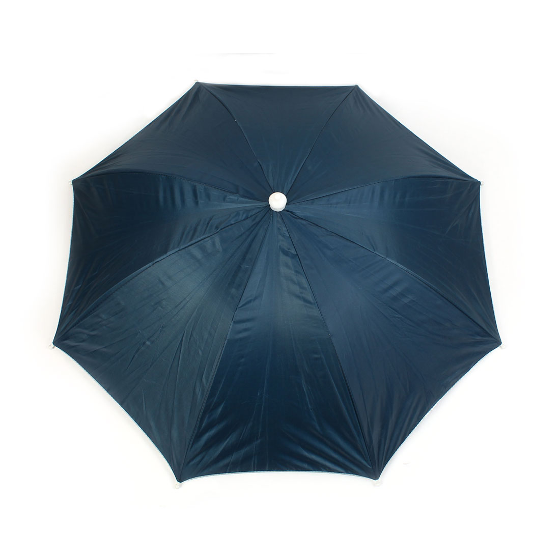 Portable Fishing Headwear Polyester Canopy Snugly Umbrella Hat Cap Dark Blue