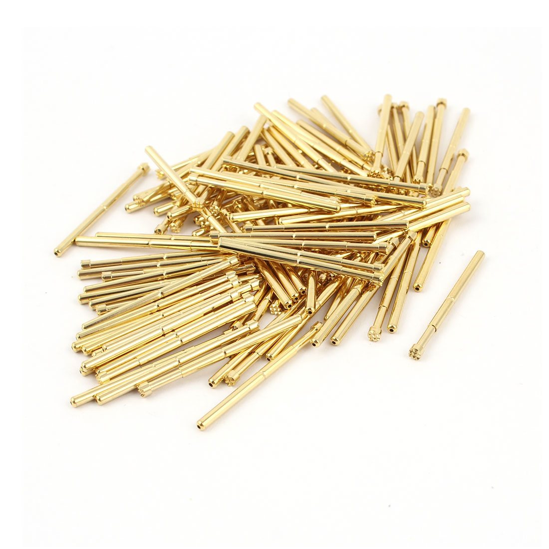 100 Pcs 2.5mm Serrated Tip Spring Loaded Testing Probes Pins