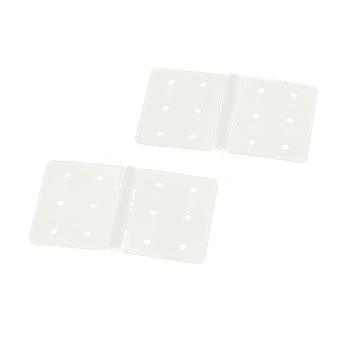 2 Pcs 0.3mm Mount Dia 9 Hole Plastic Right Angle Bracket Support 2cm x 2cm