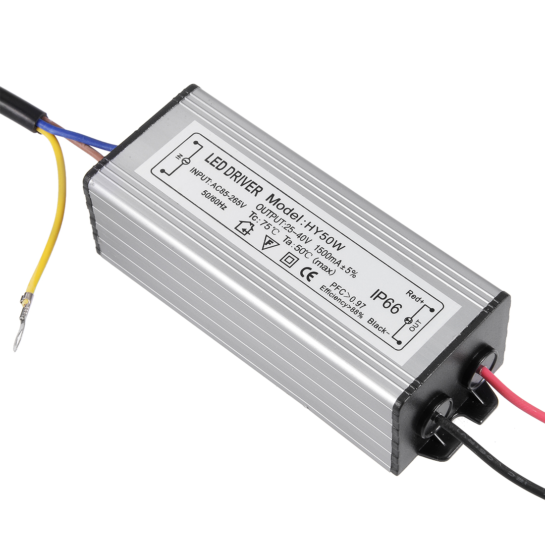 AC 85-265V to DC 25-40V 50W IP66 Waterproof LED Driver Power Supply Converter Transformer Adapter