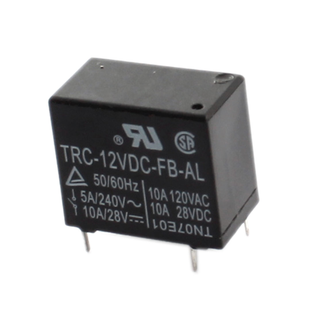 TRC-12VDC-FB-AL DC 12V Coil 4-Pin Plug in Mount Black Plastic Housing General Purpose Power Relay