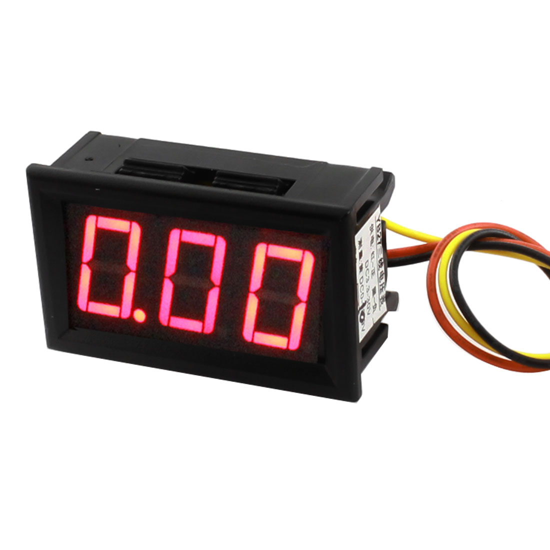 DC 0-10V Red 7-Segment 3-Digit LED Digit Display Voltage Testing Panel Voltmeter YB27
