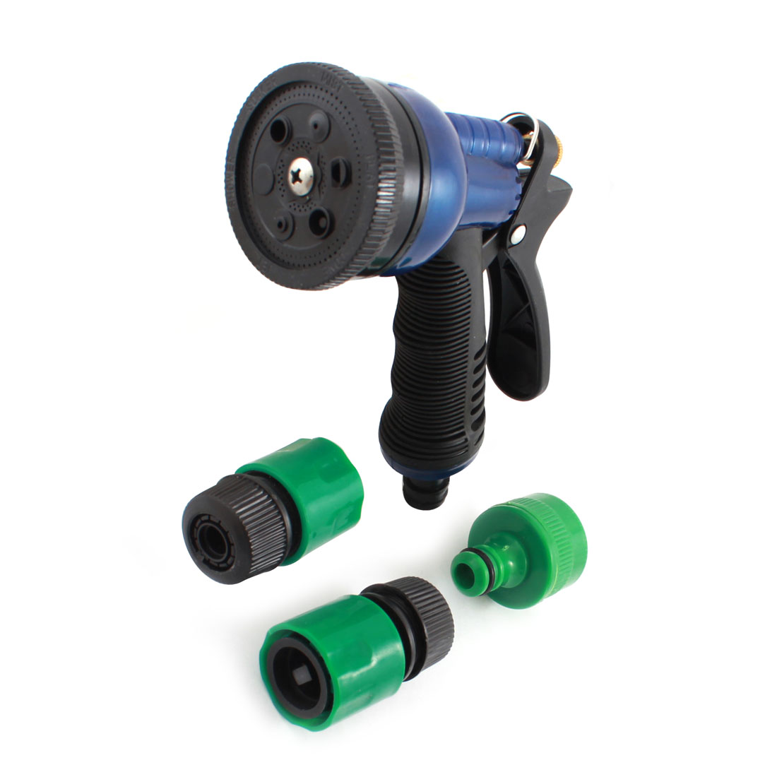 Garden Watering Car Washing Push Trigger Plastic Hose Spray Nozzle Gun Black for 9mm Hose