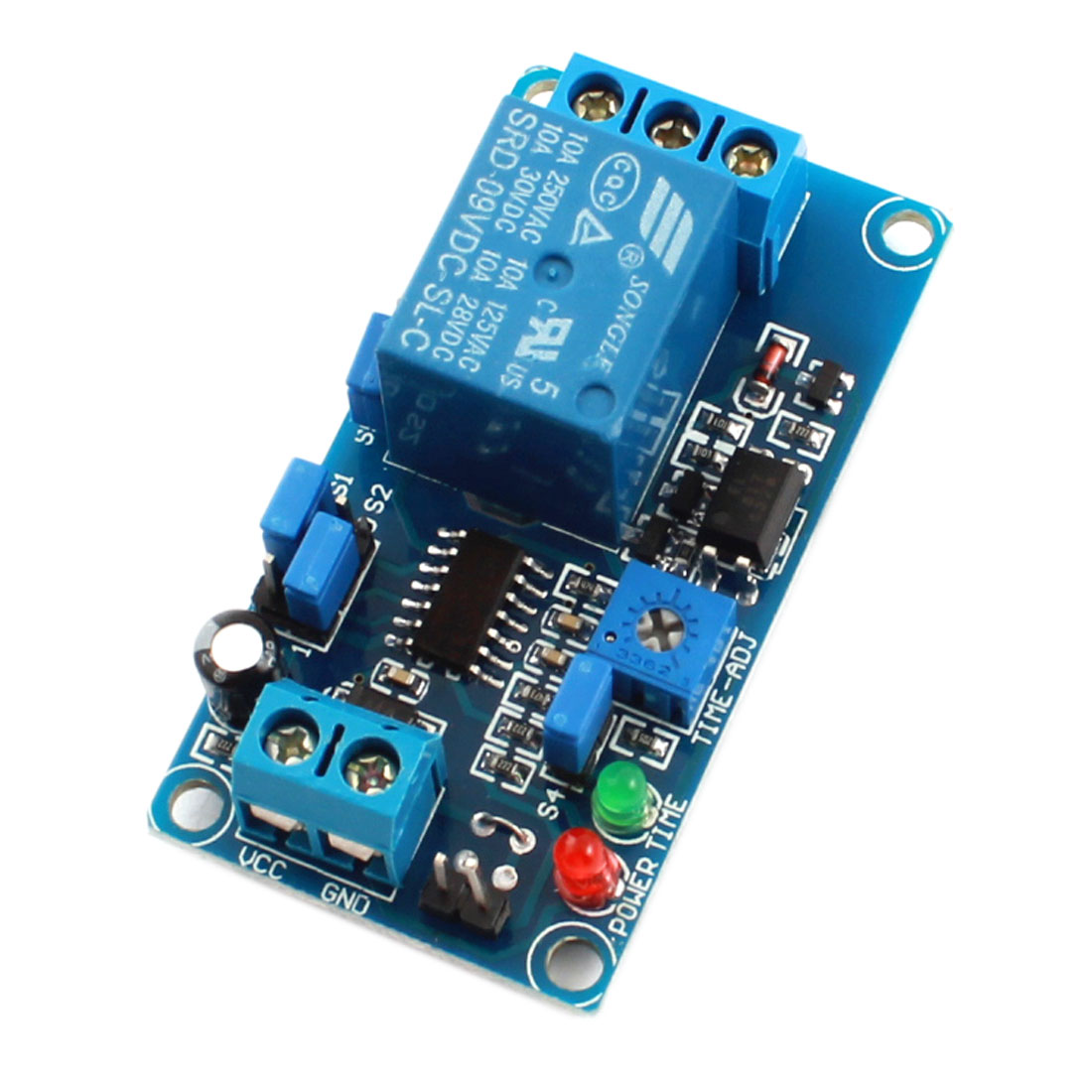 FC-31 DC 9V 1-Channel Optical Isolation Normal Close Trigger Delay PCB Circuit Relay Module Blue