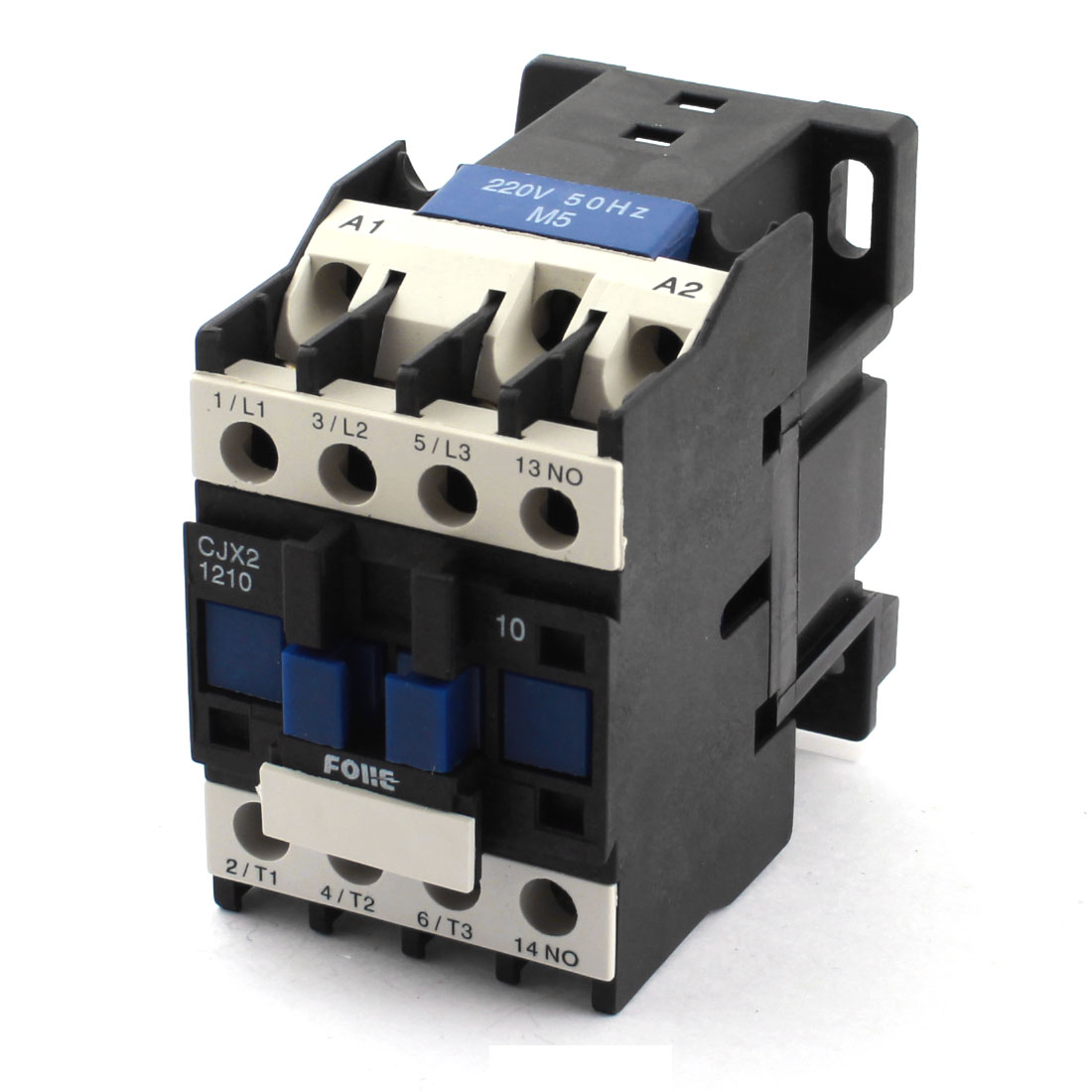 CJX2-1210 AC220V 12A 35mm DIN Rail Mounting 11 Screw Terminals 3-Phase Power Contactor