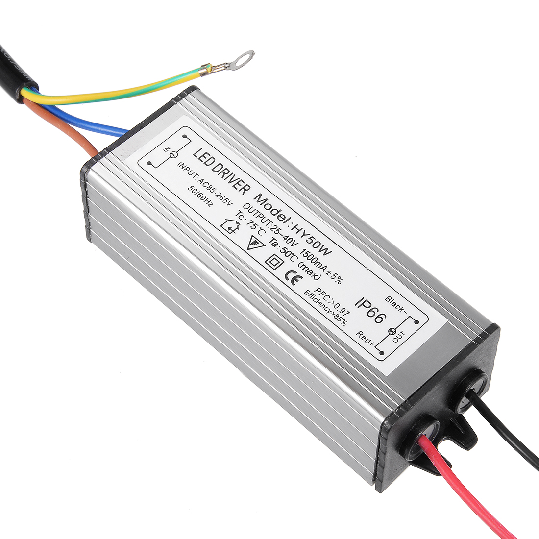 HY50W AC 85-265V Input DC 25-40V Output 50W Waterproof LED Power Supply Converter Driver