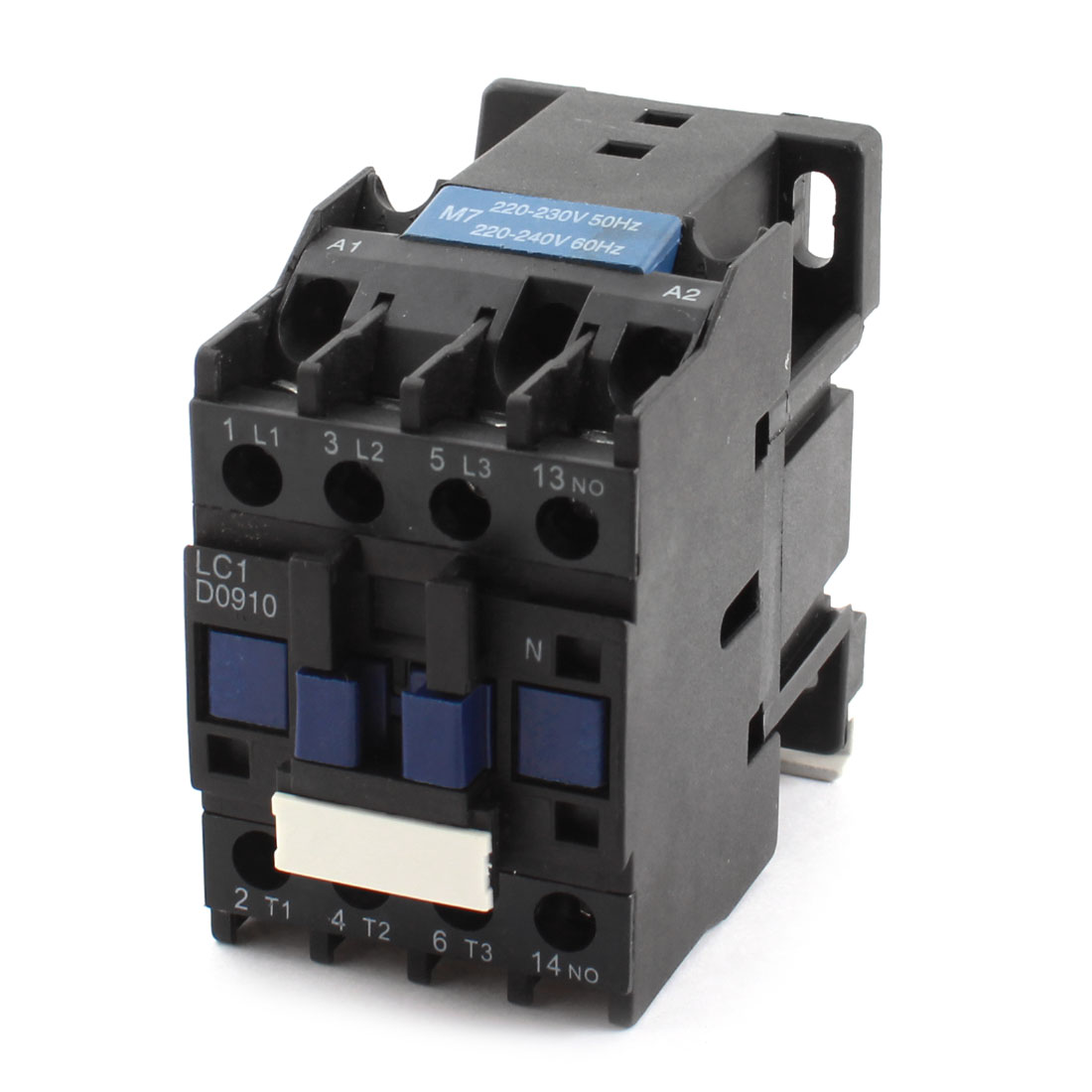 AC220-230V AC220-240V Coil 35mm DIN Rail Mounting 10 Screw Terminals 3 Poles NO Auxiliary Contact Power Contactor