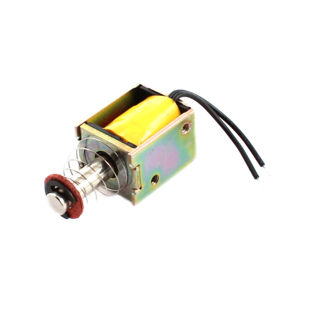 DC 14V 0.2A 2.8W 3mm 30g Open Frame Spring Plunger Linear Motion Push Pull Type Solenoid Electromagnet Actuator