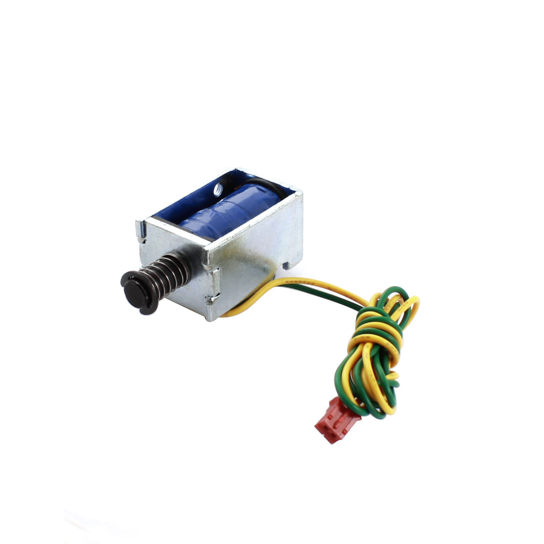 DC 15V 0.83A 12.49W 5mm 80g Open Frame Spring Plunger Linear Motion Push Pull Type Solenoid Electromagnet Actuator
