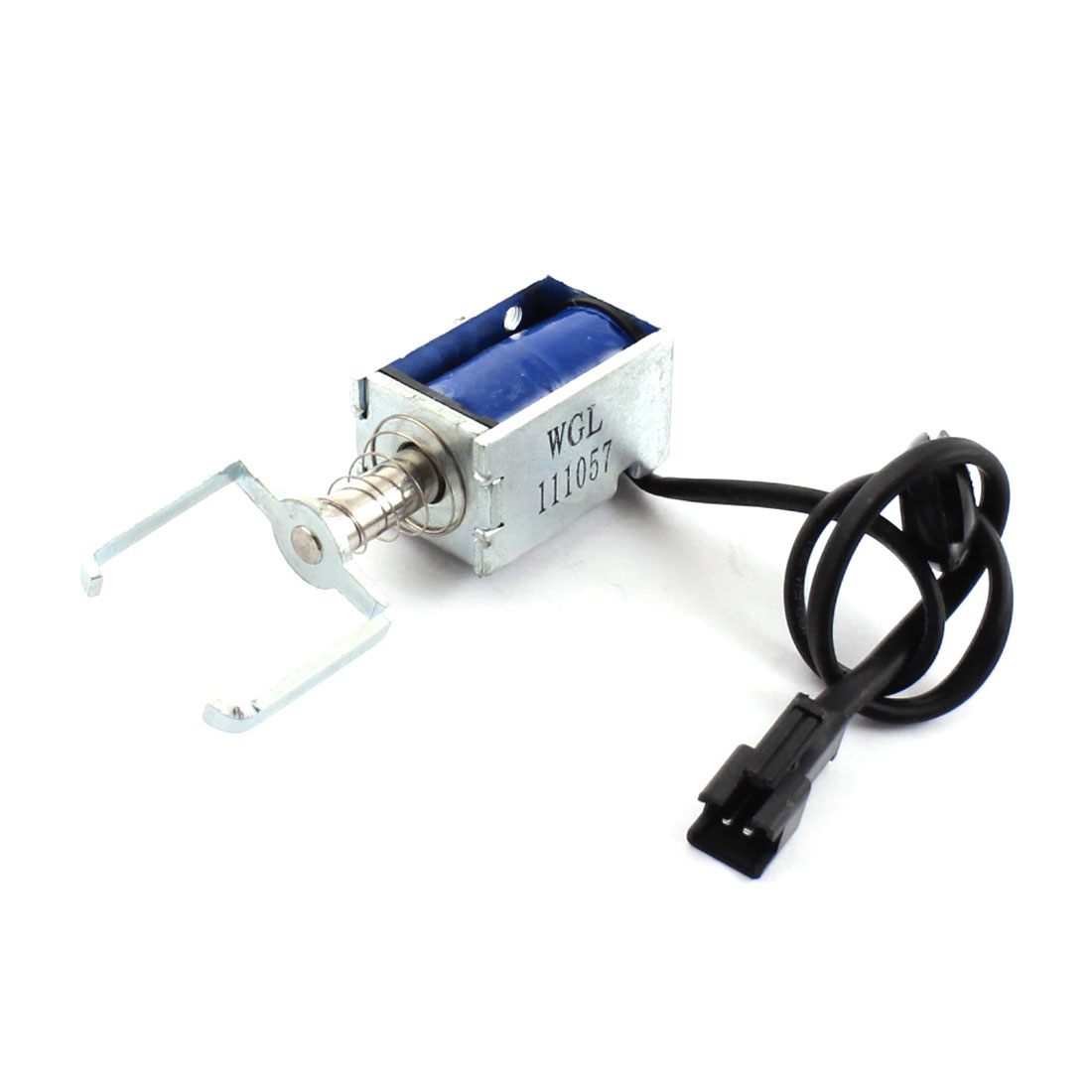 DC 6V 0.46A 2.81W 3mm 50g Open Frame Spring Plunger Linear Motion Pull Type Solenoid Electromagnet Actuator w Male JST SM 2Pin Connector