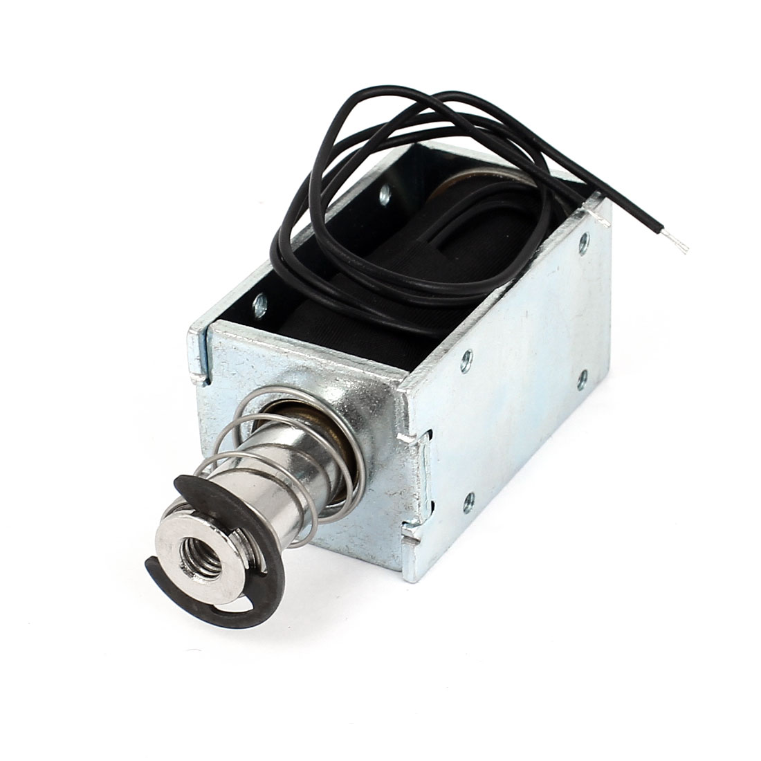 DC 12V 2A 24W 12mm 800g 10% Open Frame Spring Plunger Linear Motion Push Pull Type Solenoid Electromagnet Actuator