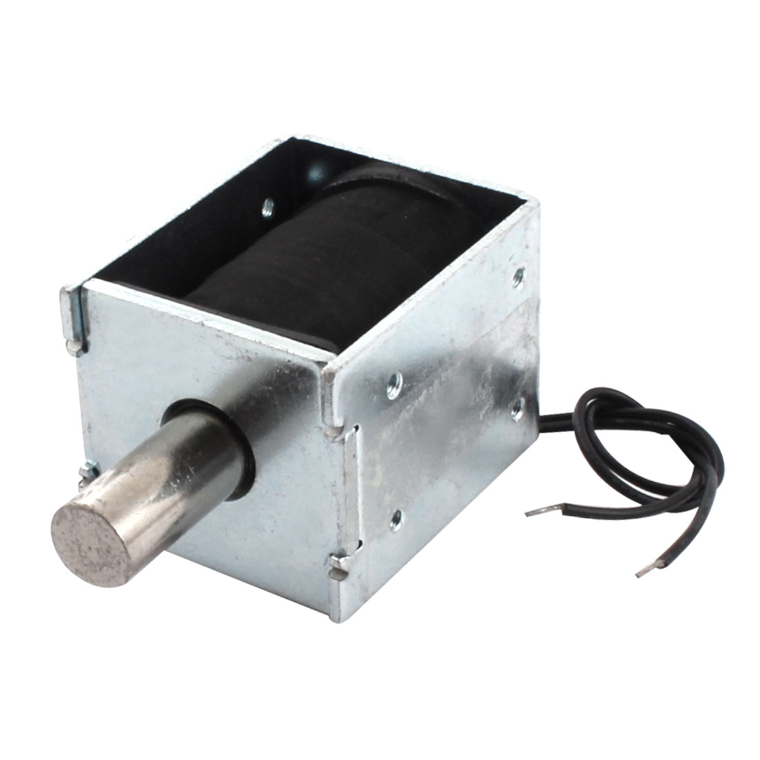 AC 220V 1.11A 10mm Stroke 1200g Force Open Frame Linear Motion Push Pull Type Solenoid Electromagnet Actuator