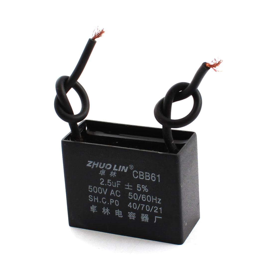 2.5uF 5% AC 500V Polypropylene Film Motor Running Capacitor CBB61