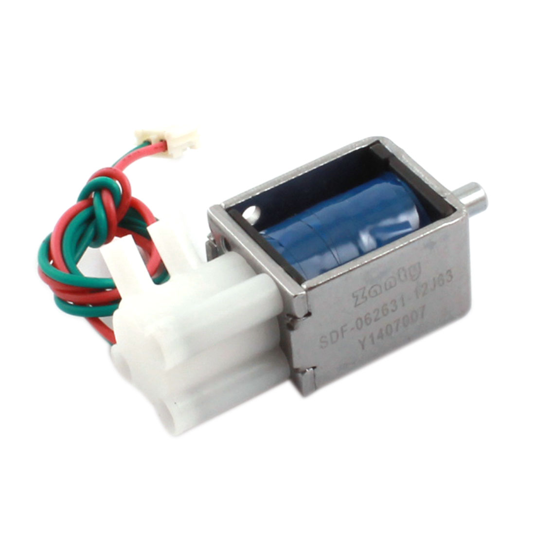 "DC 12V 0.19A 2.28W 10"" Wired Connect Double Outlet Open Frame Gas Water Solenoid Electromagnet Valve"