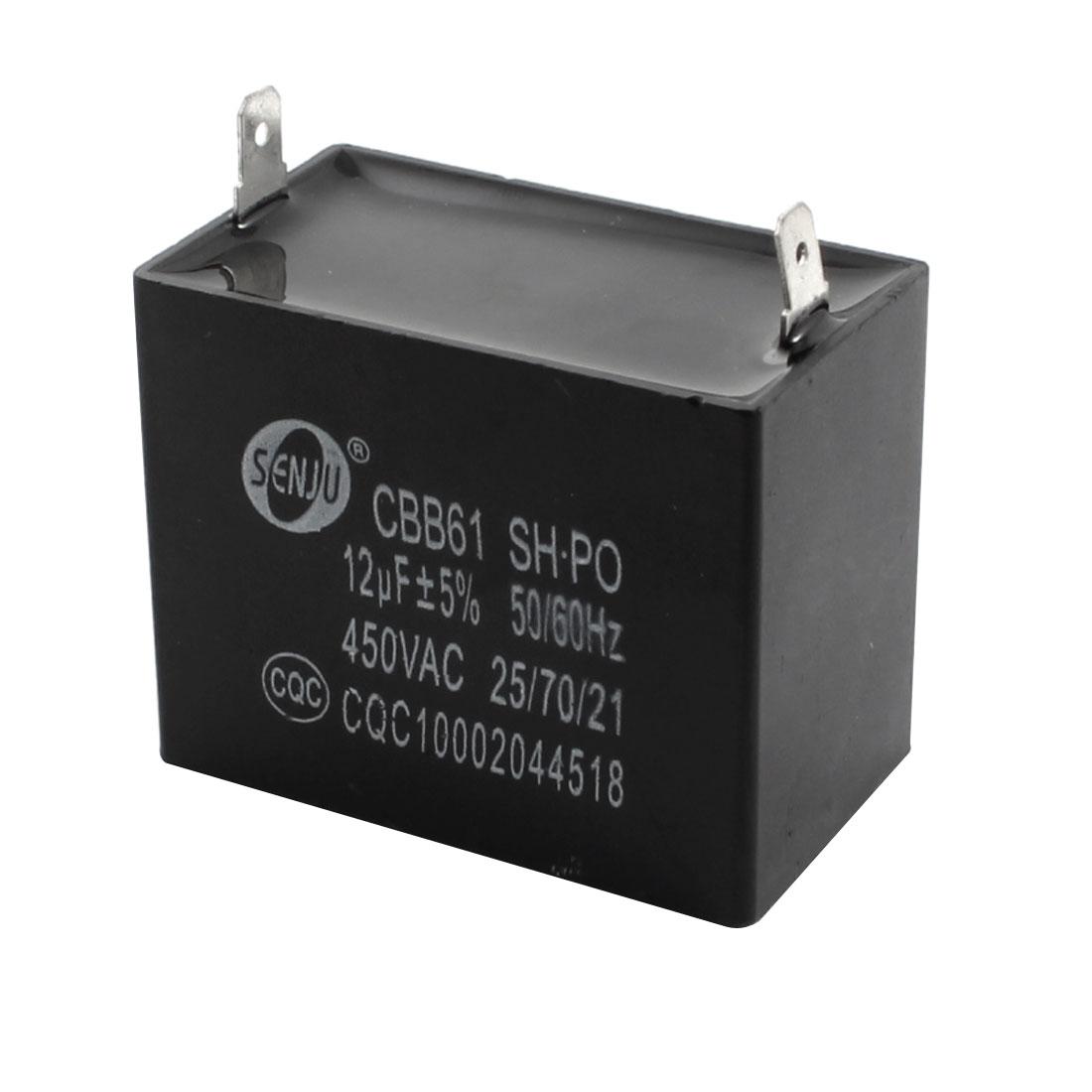 12uF 5% AC 450V Polypropylene Film Motor Running Capacitor CBB61