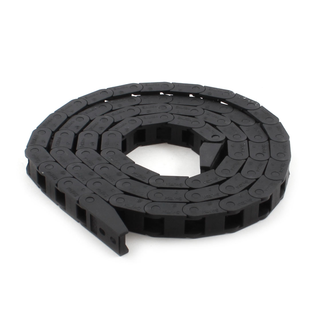 105cm Long 7mm x 7.3mm Black Plastic Towline Cable Drag Chain